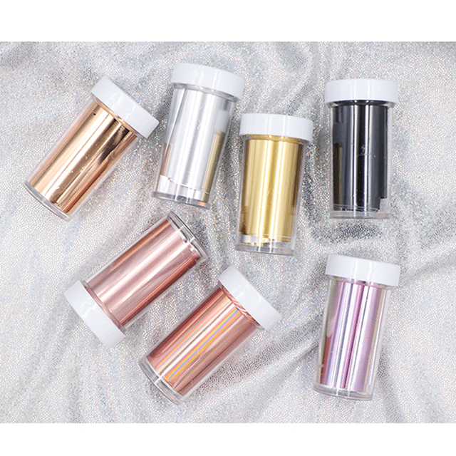 1Pc Nail Foils Rose Gold Holographic