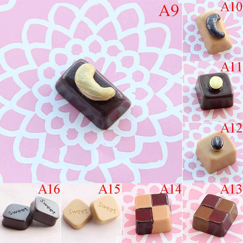 Bricolage gâteau Message Information réfrigérateur papier peint mignon Simulation alimentaire chocolat réfrigérateur autocollant accessoires de décoration