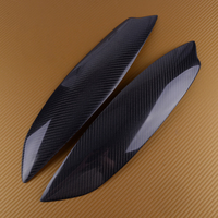 New Carbon Fiber Texture Car Headlight Eyelid Eyebrow Cover Trim Stickers lamp Fit for VW Volkswagen Golf GTI MK5 2005 2006 2007