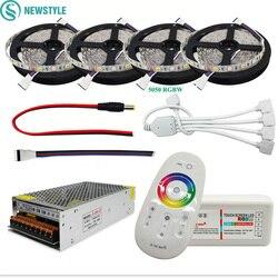 Светодиодная лента, водонепроницаемая, 12 в пост. Тока, 5050, RGB, RGBW, светодиодная лампа, гибкая лента, сенсорный пульт дистанционного управления...