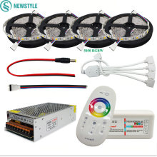 DC12V 5050 Led Strip Waterdicht Rgb Rgbw Led Licht Flexibele Tape + Touch Remote Controller + 12V Power Adapter kit 30M 20M 10M 5M(China)