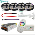 DC12V 5050 LED Strip Waterdicht RGB RGBW Led Licht Flexibele Tape + Touch Afstandsbediening + 12 V Power adapter Kit 30 M 20 M 10 M 5 M