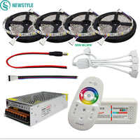 DC12V 5050 LED Strip Waterproof RGB RGBW Led Light Flexible Tape+Touch Remote Controller +12V Power adapter Kit 30M 20M 10M 5M