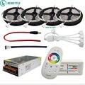 DC12V 5050 tira de LED impermeable RGB RGBW cinta Flexible de luz Led + mando a distancia táctil + adaptador de corriente de 12 V kit 30 M 20 M 10 M 5 M