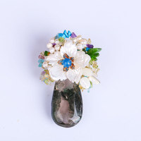High Grade Spider Jewelry Brooch Natural Freshwater Pearl Snowflake Corsage Suit Shirt Pin Coat Shawl Buckle
