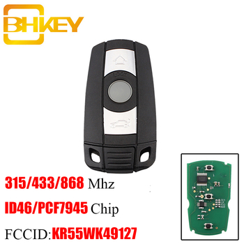 BHKEY Smart Remote Key Keyless Fob For BMW CAS3 3+ 868/315Mhz For BMW 1/3/5/7 Series CAS3 X5 X6 Z4 Car Control ID46 Chip