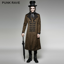 Punk Rave Mens Jackets and Coats Gothic Steampunk Victorian Long Coat Jacket Fashion Clothes Steage Performance Costume