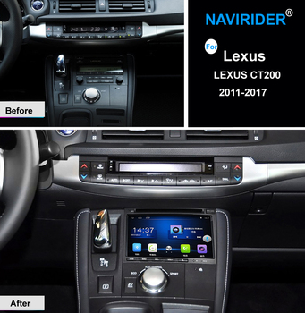 """7"""" Car radio for LEXUS CT200 CT 200 2011 2012 2013 2014 2015 2016 2017 Quad core Android 7.1 car dvd player GPS 2G RAM 32G ROM"""