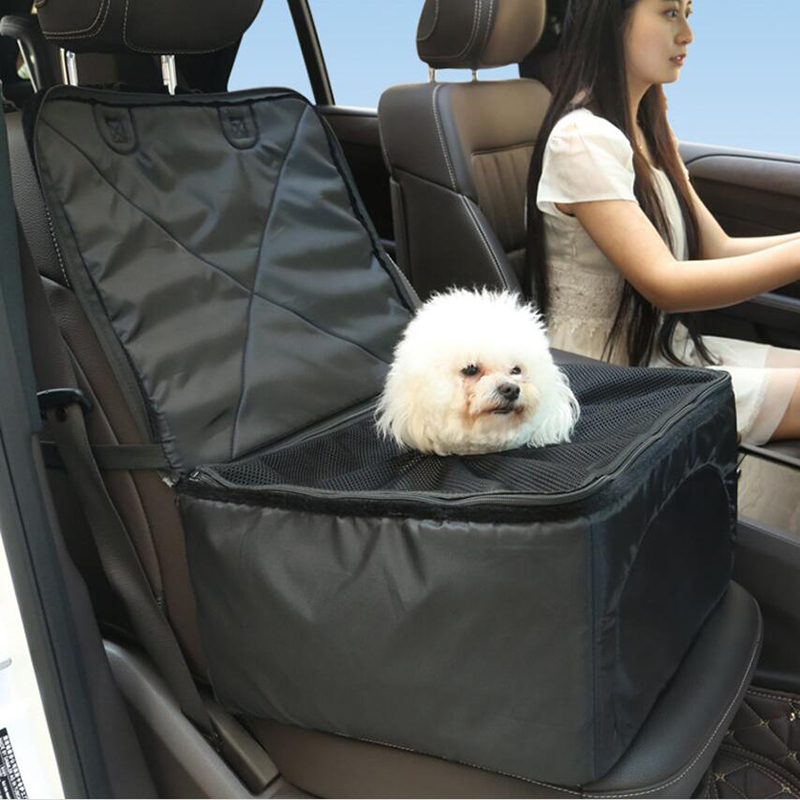 Multifunctional Pet Car Booster Seat Thick Dog Carrier Car Front Chair Basket Seat Cover Travel Storage Bag Trunk Organizer ...
