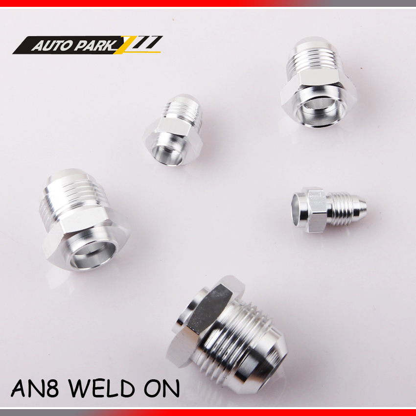 8 AN -8 08 8AN -8AN AN8 MALE Aluminum WELD ON FITTING ADAPTER