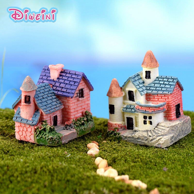 Simulation Mini Countryside House Mode Miniature Figurine Pretend Play Kitchen Toy Doll House DIY Accessories Gift Baby Gift