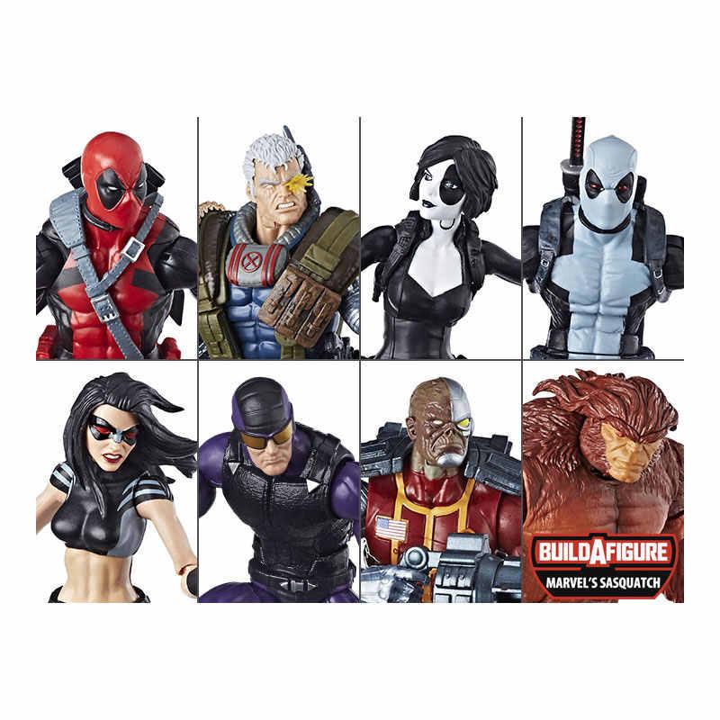 Hasbro Marvel Superohere Karakter Marvel legends 6 inç Ölü Havuzu Paladin Domino Bebek Koleksiyon Oyuncaklar