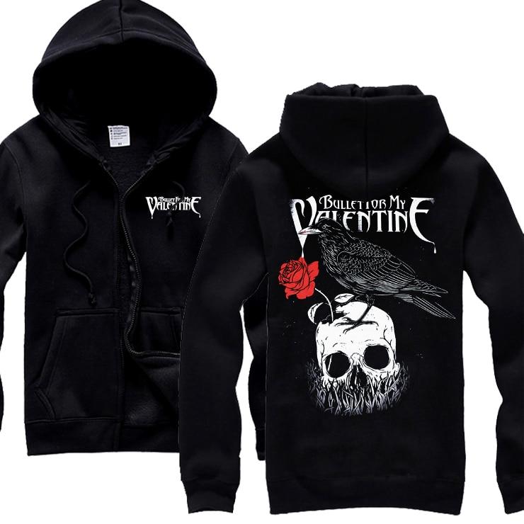 25 Designs Bullet For My Valentine Rock Hoodies Punk Heavy Metal Zipper Sweatshirt Pullover Fleece Rose Skull Crow Sudadera Zipper Sweatshirt Designer Sweatshirtbullet For My Valentine Aliexpress