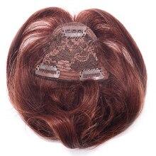 LADYSTAR Remy человеческие волосы челка короткая перед DIY челка цельный Клип В Волосы взрыва/бахрома можно отрезать любой длины, как вам нравится