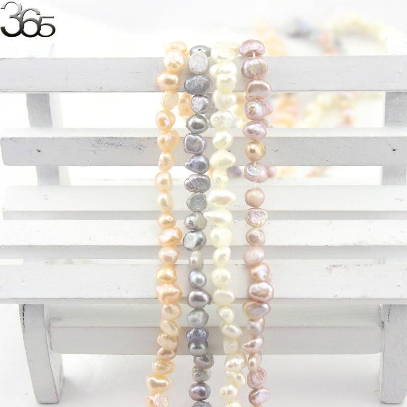 Perlen & Schmuck Machen FäHig Freies Verschiffen Kleine 4-5mm Natürliche Weiß Rosa Grau Süßwasser Barocke Perle Lose Diy Spacer Perlen 15 Schrumpffrei