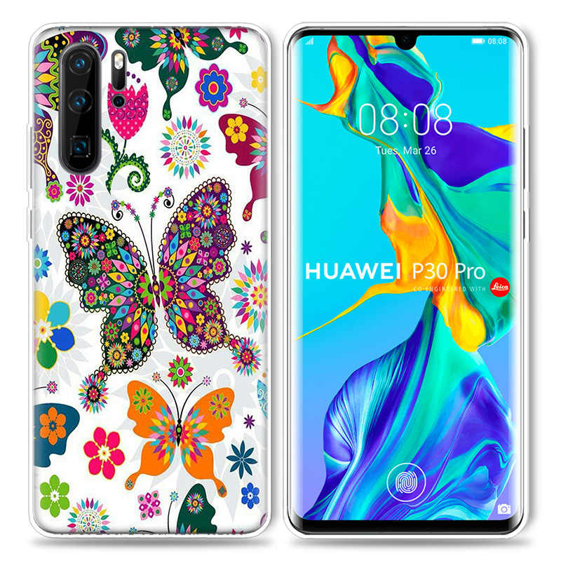 Butterfly Flower Mandala Case for Huawei P20 P30 P Smart Z Plus Nova 5 5i P10 P9 Mate 10 20 lite Pro Silicone Phone Bags Capa