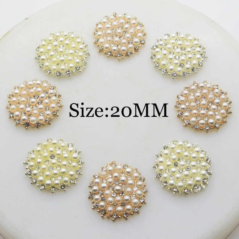 Buttons Wedding Crystal  Pearl Craft 10pcs Embellishments Flatback Rhinestone
