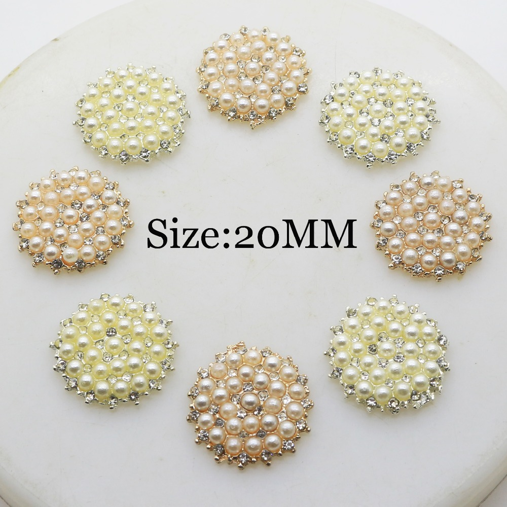 10pcs Round Rhinestone Flatback Embellishment DIY Buttons for Scrapbook 14mm