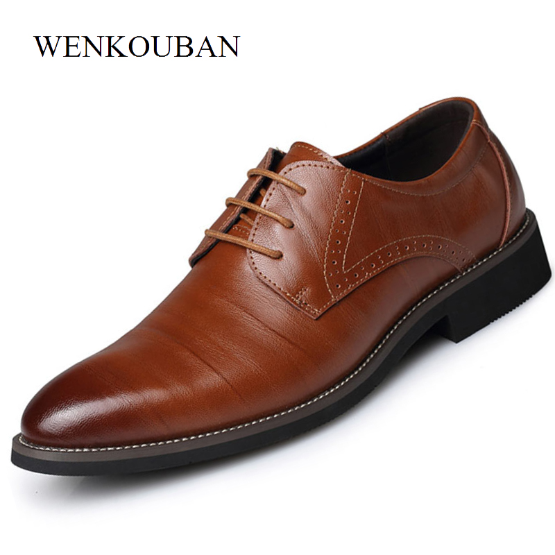 Summer Fashion Men Casual Shoes Classic Genuine Leather Flats Male Formal Oxford Dress Shoe Luxury Zapatos Hombre Plus Size 2019Summer Fashion Men Casual Shoes Classic Genuine Leather Flats Male Formal Oxford Dress Shoe Luxury Zapatos Hombre Plus Size 2019