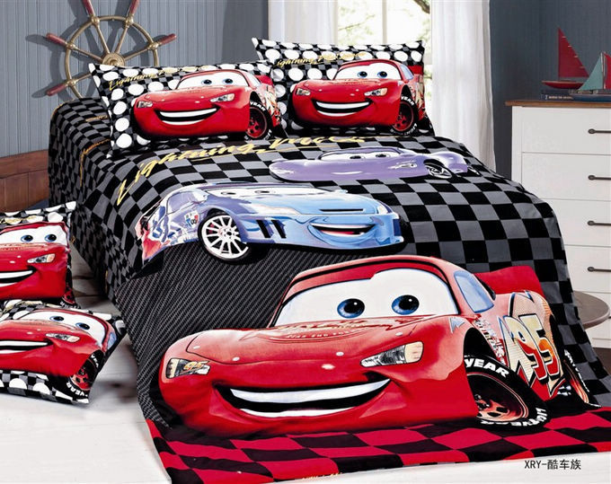 race car kids boys cartoon bedding set children tw