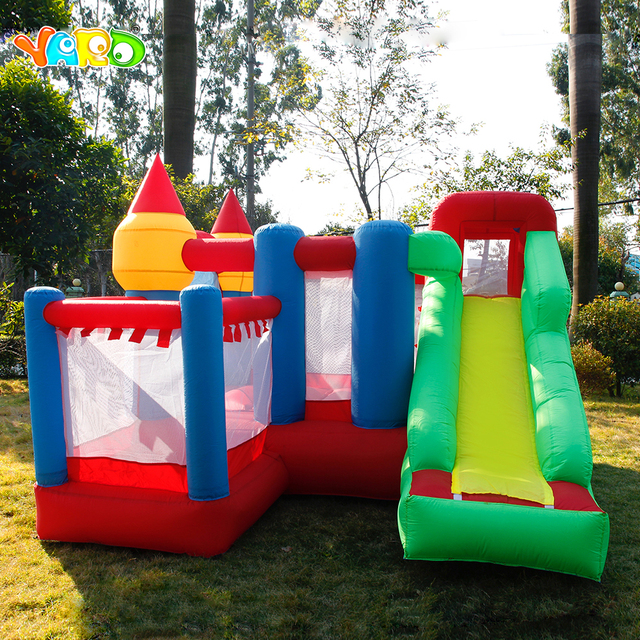 Inflatable Castle With Slide Jumping House Trampoline/Bouncer PVC Material Bouncy Castle Free Balls Blower Children's Playground