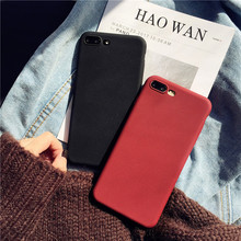 Luxury Soft Silicone Matte Phone Case For iPhone 7 8 6 6s Plus Black Wine Red Plain Back Cover For iPhone X 10 Coque Capa Cases protective matte pc back case for iphone 6 4 7 black red