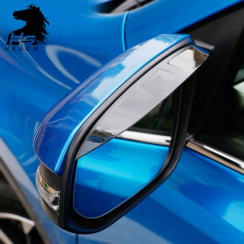 For Toyota RAV4 2016 Rear view mirror visor Rain eyebrows cover Sun Rain Guard Shield Deflector Sun Visor accessories 2016-17
