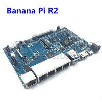 Free Shipping Banana Pi R2 BPI R2 Quad Core 2GB RAM With SATA WiFi Bluetooth 6GB