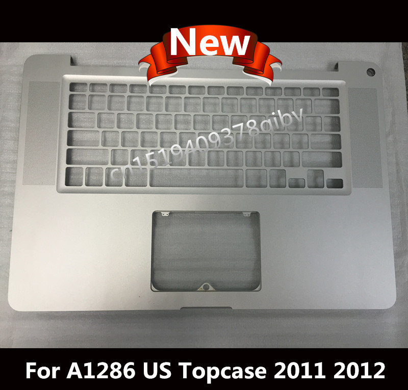New Top case For Macbook Pro 15.4 A1286 Laptop Palmrest Topcase US Layout without Keyboard Touchpad 2011 2012 spanish latin laptop keyboard for sony vaio svp1321ecxb svp1321ggxbi svp1321hgxbi svp1321zrzbi sp la palmrest backlit touchpad