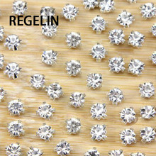 REGELIN 50pcs/lot 3D Anti scratch claw rhinestone Sew on sto
