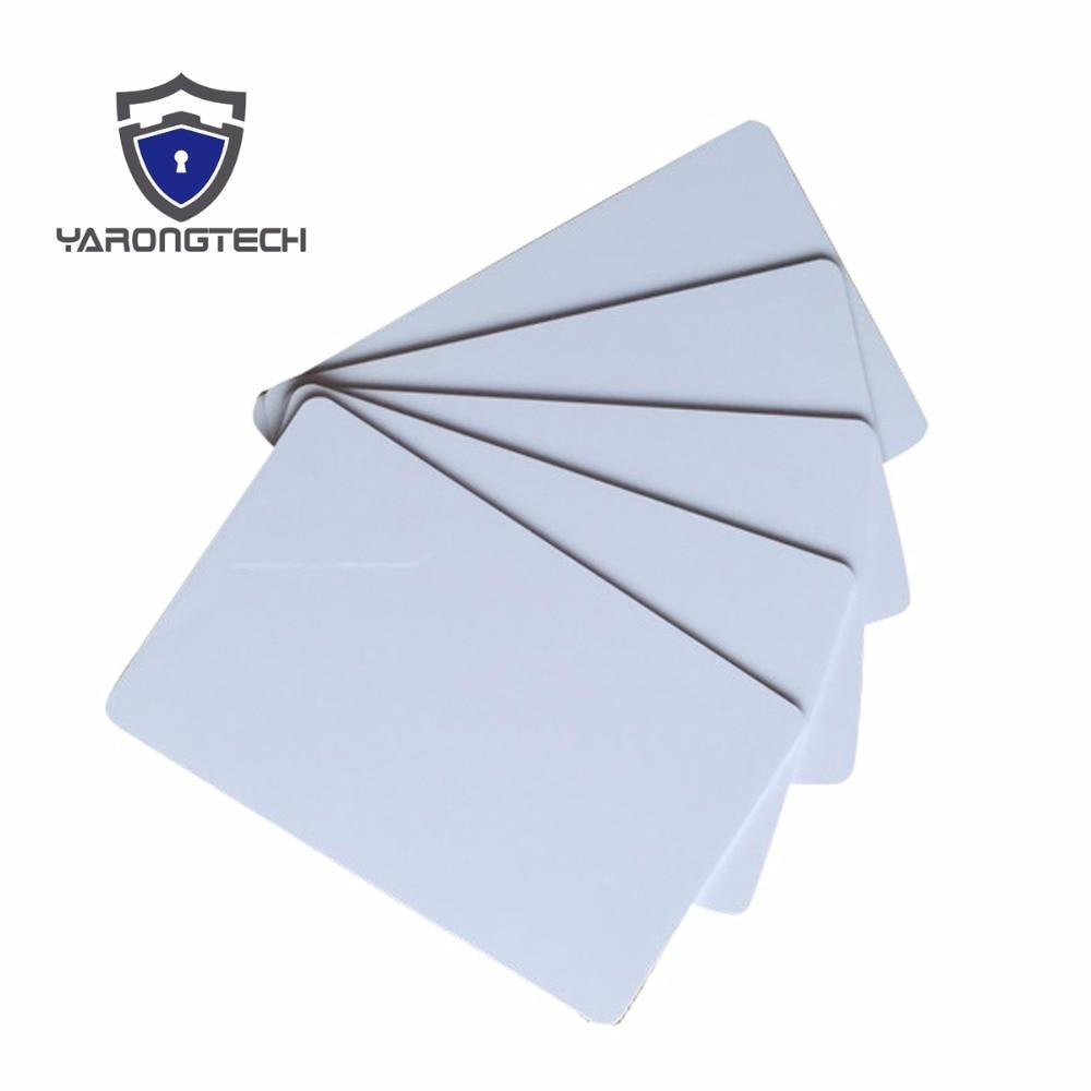 100pcs/lot RFID 125KHZ Em4305 Blank White Cards Writable Rewrite Cards