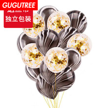 Decorate 12inch rose gold paper scraps latex balloons wedding event christmas halloween festival birthday party HY-348