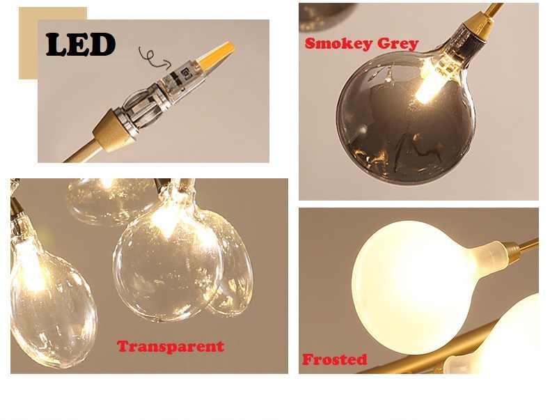 اليراع الحديثة LED الثريا ضوء أنيق شجرة فرع مصباح نجف الزخرفية اليراع سقف الثريا نجف يُعلق بالسقف