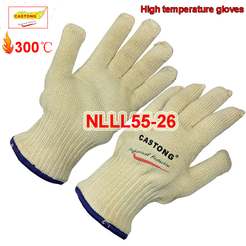 CASTONG 300 degree High temperature gloves high quality Thicker models fireproof gloves oven Baking Anti-scald safety glove