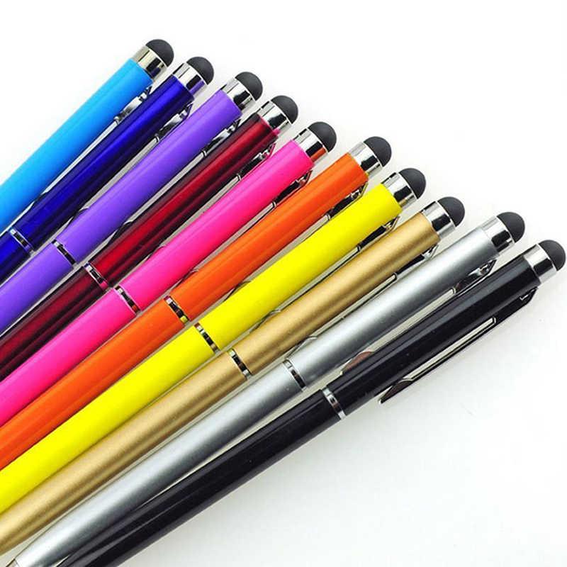 5 sztuk 2in1 rysik do ekranu dotykowego długopis + długopis dla iPad iPhone Tablet Smartphone radom kolory