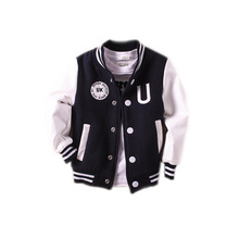 New Boys outerwear 2017 baby boy jacket spring autumn long sleeve pu leather boys jackets single breasted baseball boys jackets