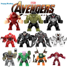 Marvels Avenger 4 Singel Sale Super Heros Bricks building blocks Educational DIY figures Compatible with legoINGly Toys wy30(China)