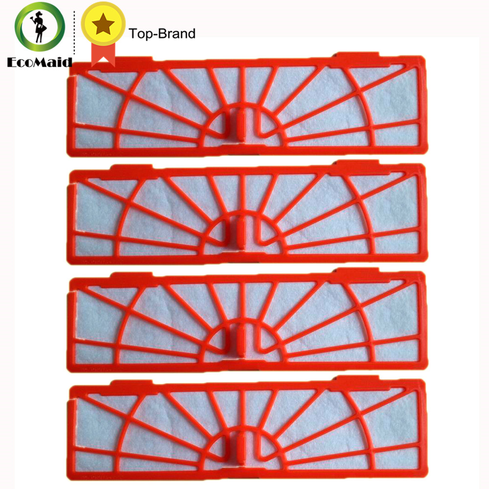4-Pack Standard Filter Replacement For Neato Botvac Series Neato Botvac D Series Robot Vacuum Cleaner 70e 75 80 85 Cleaning Tool 4x silicone blades 4x brush 1x beater bearing replacement for neato botvac 70e 75 80 85 automatic vacuum cleaner robots