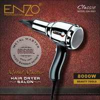 ENZO 8000W métal corps Salon professionnel sèche-cheveux Volumizer négatif Ion sèche-cheveux brosse chaude/froide avec buse de collecte d'air