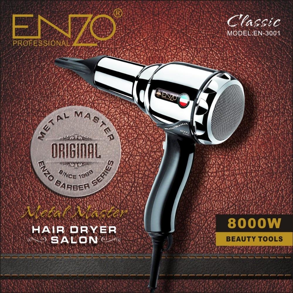 enzo 8000w corpo de metal volumizer salon professional secador de cabelo de ions negativos secador de