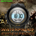 SANDA Brand Military Men Sports Watches LED Digital Man Watch 3ATM Dive Swim Dress Fashion Outdoor Boys Wristwatches relogio 340