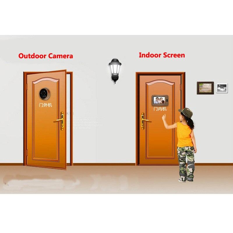ビデオドアベルのぞき穴ドアカメラ 4.3 インチカラー画面 Led ライト有線リングドアビューアービデオ目  グループ上の セキュリティ & プロテクション からの ドアベル の中 2
