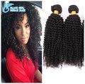Top Quality 8A Grau Mongolian Kinky Curly Cabelo Tece Não Transformados Afro Crespo Cabelo crespo Cabelo humano Tece Nenhum Emaranhado Nenhuma derramamento