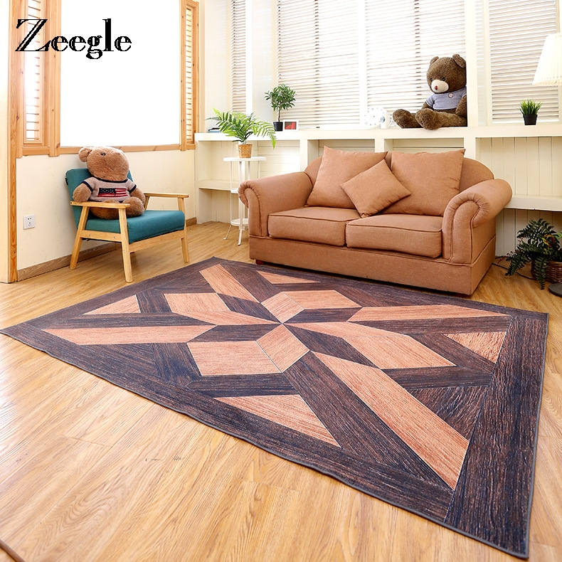 contemporary home offices designs with rugs floor | Zeegle 3D Geometric Carpets For Living Room Modern Anti ...