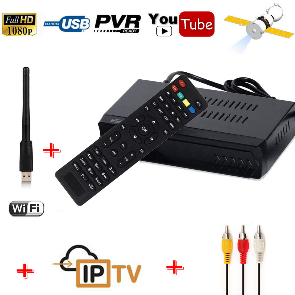 FOB Free To Air DVB-S2 Decoder Digital Satellite HD SD Receiver IPTV Combo RJ45 Lan Wifi Youtube IKS Cccam Newcam vu Key Record