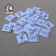 96 Custom logo labels / Natural Fabric Labels, handmade fabric tags,Custom Clothing Labels,Name Tags
