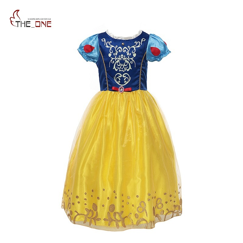 MUABABY Filles Blanche-Neige Dress up Enfants Cendrillon Sleeping Beauty Rapunzel Sofia Princesse Costume Fille Parti Cosplay Robes