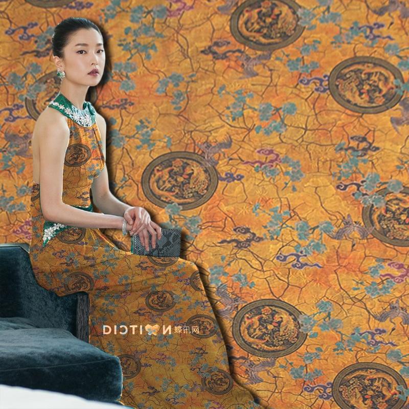 111cm heavy-duty inkjet jacquard brocade fabric 37mm skirt T-shirt chinese silk brocade fabric wholesale silk cloth111cm heavy-duty inkjet jacquard brocade fabric 37mm skirt T-shirt chinese silk brocade fabric wholesale silk cloth