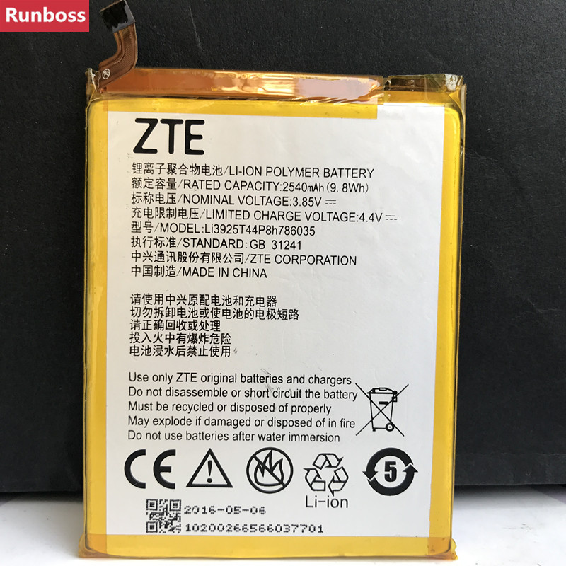 New 2540mAh Li3925T44P8h786035 Battery For ZTE Blade V7 Z10 BA910 A910 A512 Xiaoxian 4 BV0701 Batteries-in Mobile Phone Batteries from Cellphones & Telecommunications