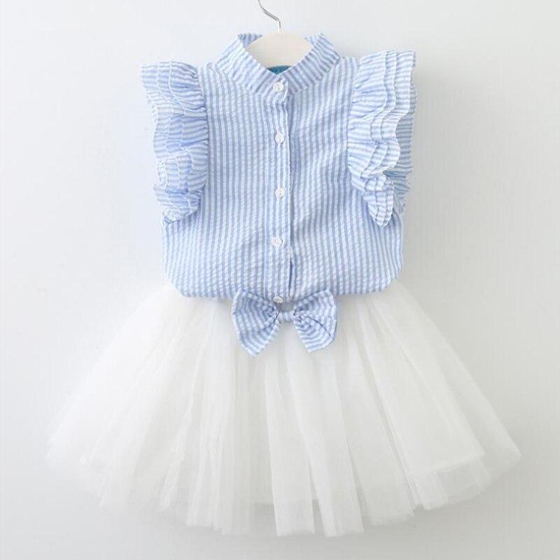 Gemini 2018 Νέο Καλοκαιρινό Παιδικό Σετ Παιδιών Λουλούδια Μπλε T ... 2c8c0c24b54